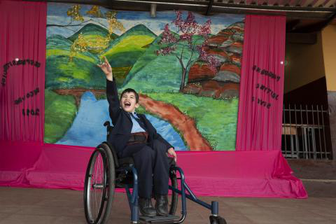 Paraguay and children with disabilities - a student in a wheelchair