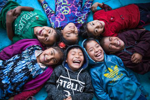 UNICEF results: a group of smiling children in Guatemala